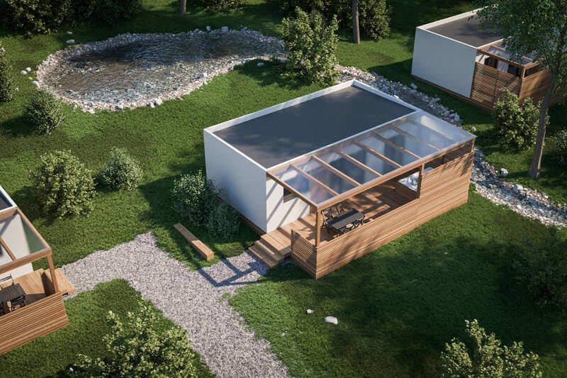 Žiher hiše je izvajalec glamping naselja v Biotermah